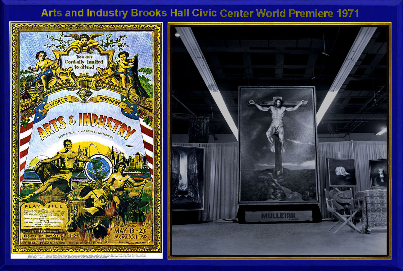 G. Mark Mulleian large-scale exhibit at the Arts and Industry Brooks Hall exhibition San Francisco Civic Center 1970s